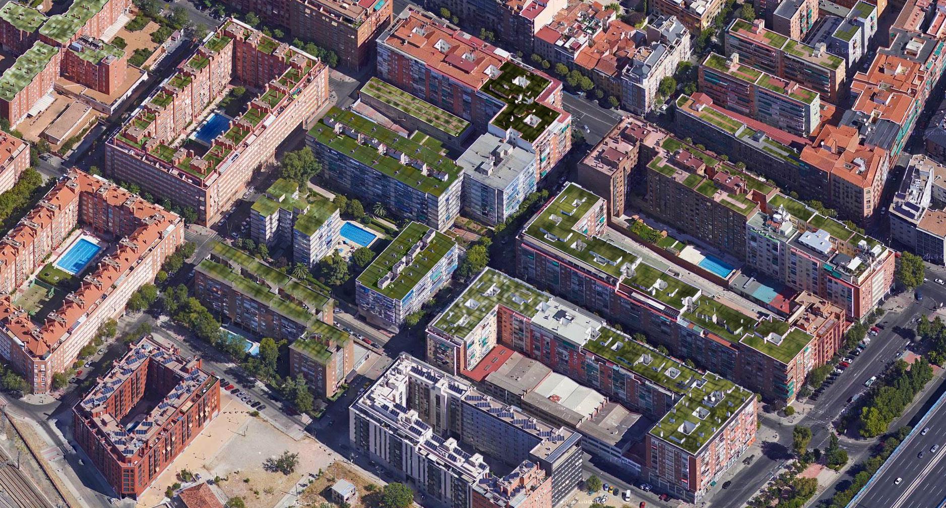 Proyecto de creación de zonas vegetales en edificios de Madrid